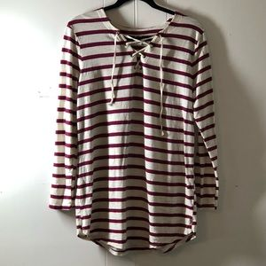 Old navy striped tunic with ties